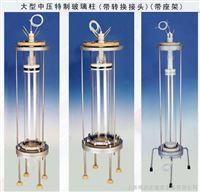中压大型有机玻璃层析柱(带转换接头)生化用 价格 参数 详细资料 规格 图片 玻璃