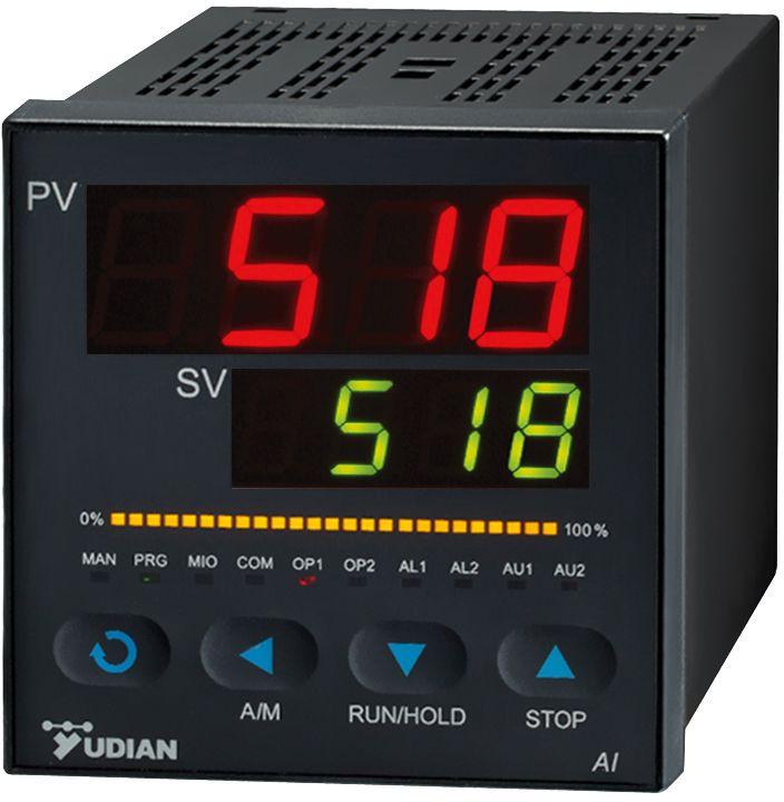 厦门宇电AI-518型温控器/调节器 适用于反应釜温度控制  支持各种热电偶、热电阻、线性电压、电流、电阻及辐射(红外)温度计等,并具备扩充输入插座安装特殊输入规格,0.3级或0.2级(V7.5版)测量精度。  模块化输出支持SSR电压、线性电流(电压)、继电器触点开关、可控硅无触点开关、单相、三相可控硅过零触发、单相可控硅移相触发输出,控制周期0.